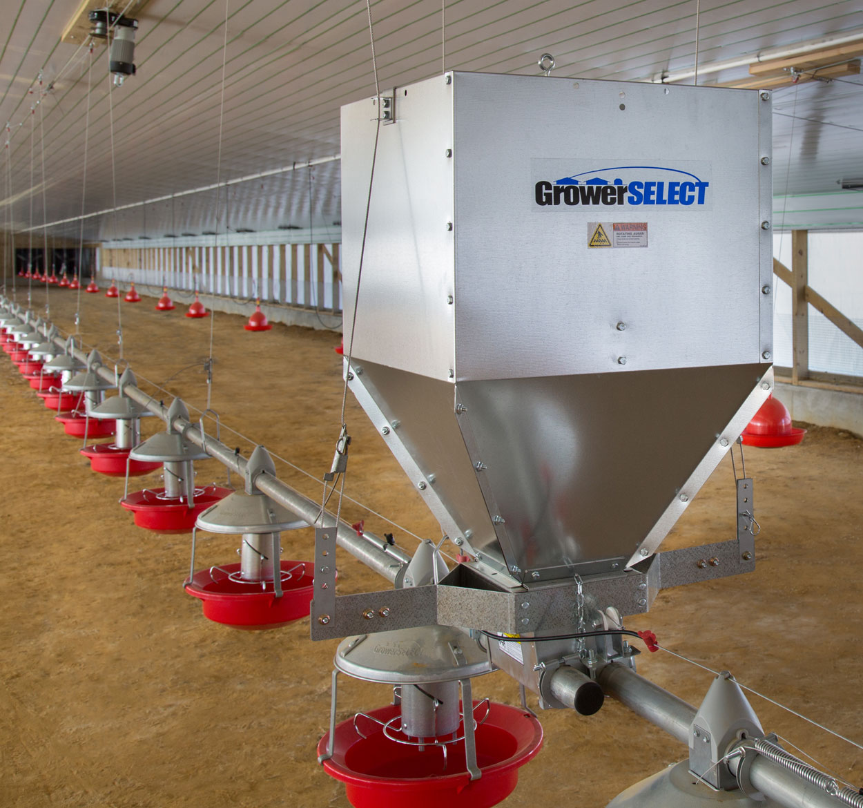 GrowerSELECT® Adult Turkey Feeders and GrowerSELECT poultry feed system components are designed and manufactured to provide reliable performance and conversion potential flock after flock.
