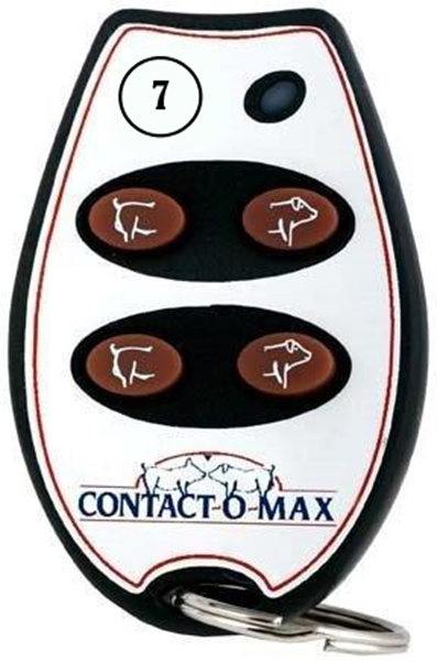 Picture of Contact-O-Max Remote Control Red Light 4 Button Freq #7