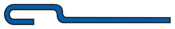 3/8'' Gate Rod, 19-1/2'' Overall Length (Candy Cane) Drawing