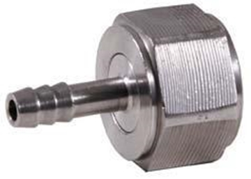 "Picture of 1/2"" FPT Swivel x 1/4"" Barb - SS"