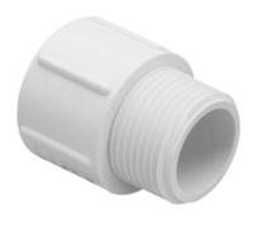 """1"""" MPT x 3/4"""" Slip Reducing Bushing PVC"""