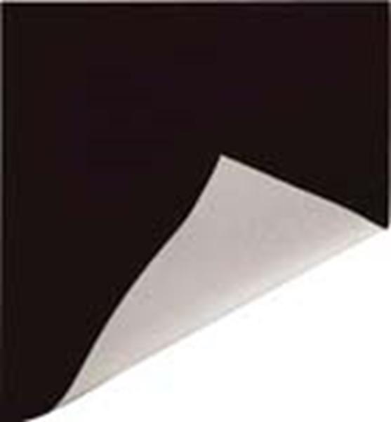Picture of 5' Black/White Poly Curtain 6 oz. Single Hem