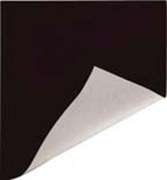 Picture of 7' Black/White Poly Curtain 6 oz.,  Single Hem