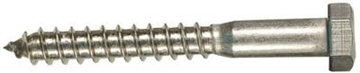 "Picture of 5/16"" x 3"" Stainless Steel Lag Bolt"