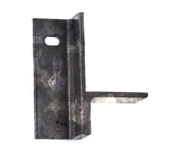 "Picture of 5 3/4"" right angle leg for floor frames-galv,"
