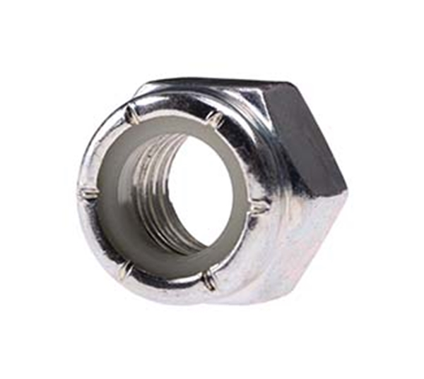 "Picture of 1/4"" Locknut (Zinc)"