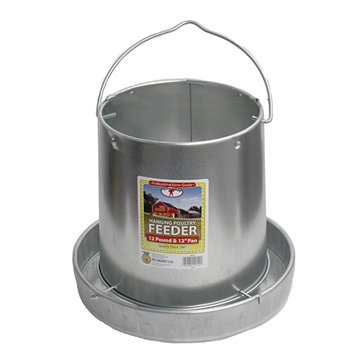 Picture of 12 lb. Hanging Chicken Feeder - Galvanized