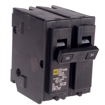 Picture of 30 AMP DOUBLE POLE BREAKER 120/240V