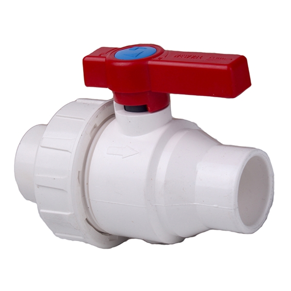 "Picture of BALL VALVE 3/4"" PVC UNION TYPE SCH 40"