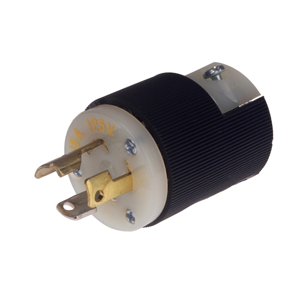 Picture of TWIST LOCK PLUG MALE 125V 15AMP FUSE