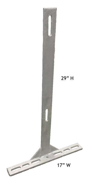 Picture of 29'' Flat Bar Post W/ 17'' Offset Foot, Galvanized