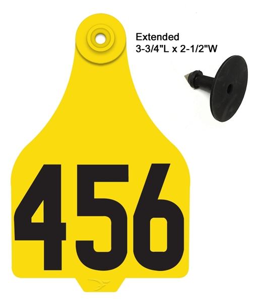 Duflex® Extended Cattle Tag - Numbered