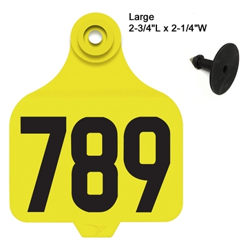 Picture of Duflex® Large Cattle Tag - Numbered