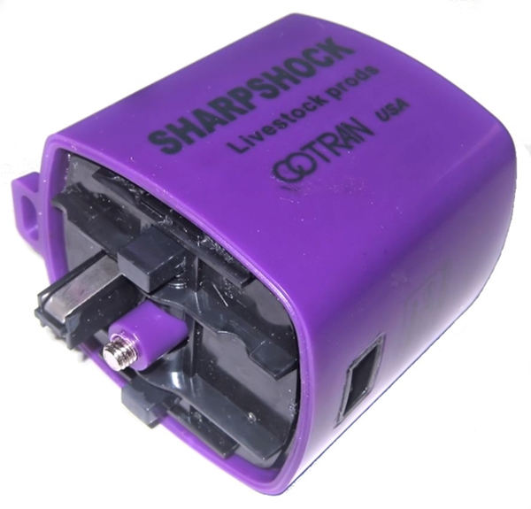 """Cotran Sharp Shock Rechargeable Livestock Prod Shocker with 33/"""" Wand /& Charger"""