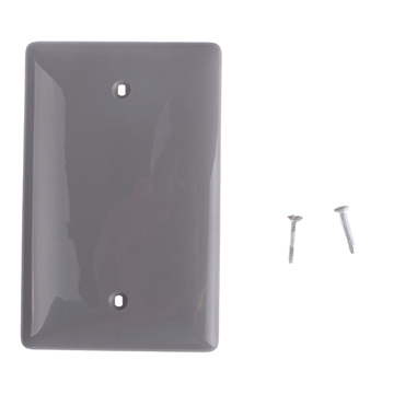 Picture of Receptacle Cover Blank Gray Single Gang