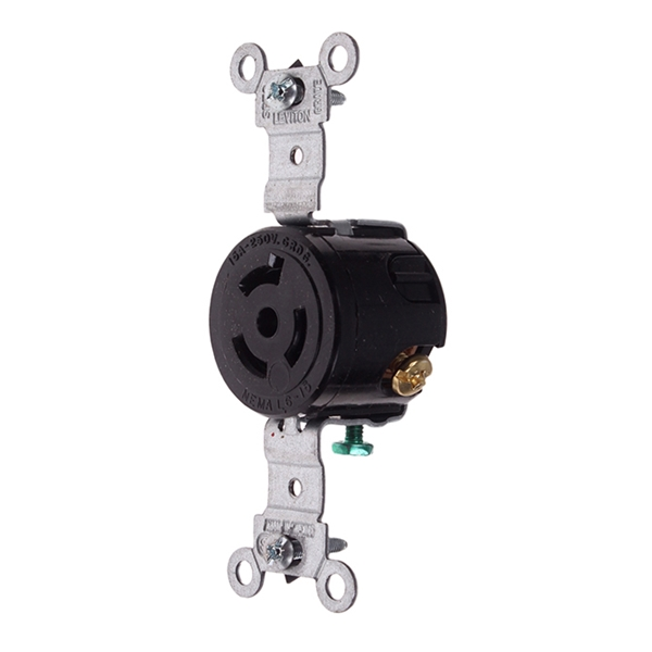 Picture of 250V Receptacle Twist Lock 2 Pole 15 AMP