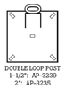 Picture of Double Loop U-Channel Posts