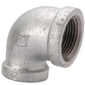 "Picture of 3/4"" x 1/2"" 90 Degree Elbow Galvanized"