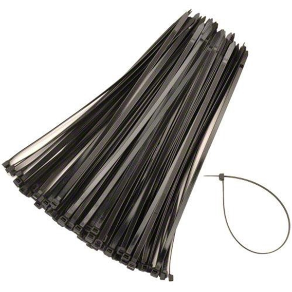 "Picture of 7-1/2"" Cable Wire Zip Ties - Black"