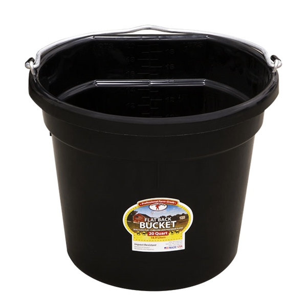Picture of 20 QT Flat Back Duraflex Plastic Bucket