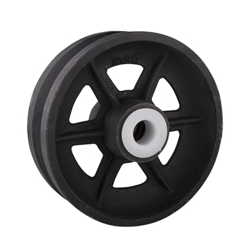 "Picture of Cast Iron 6"" V-Groove Corner Wheel"