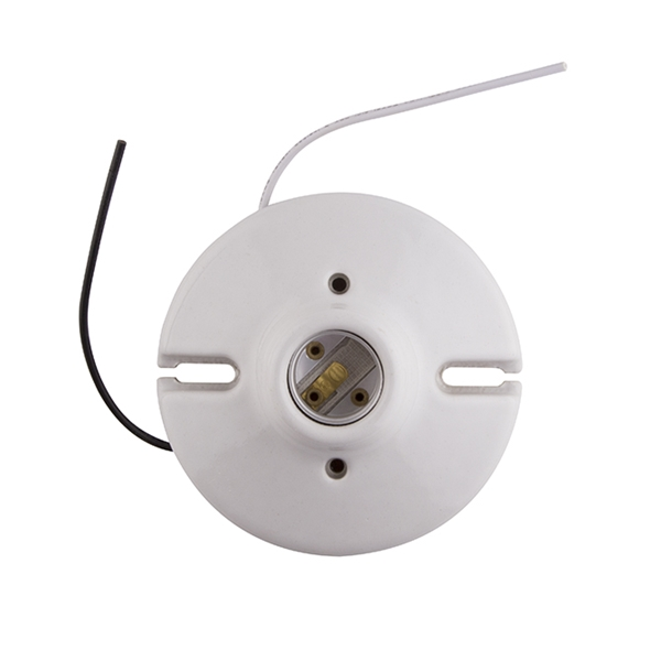 """Picture of Porcelain Light Receptacle w/ 6"""" Leads"""