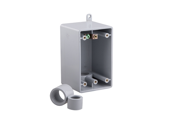 "Picture of 3/4"" PVC Deep Box Single Gang FDE w/ Adaptors"