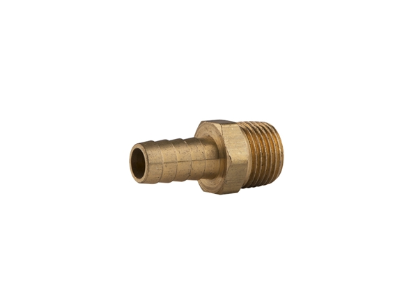"Picture of Brass Hose Barb - 1/2"" MPT x 1/2"" Barb"