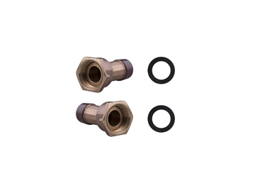 "Picture of 3/4"" Water Meter Coupling Pair"