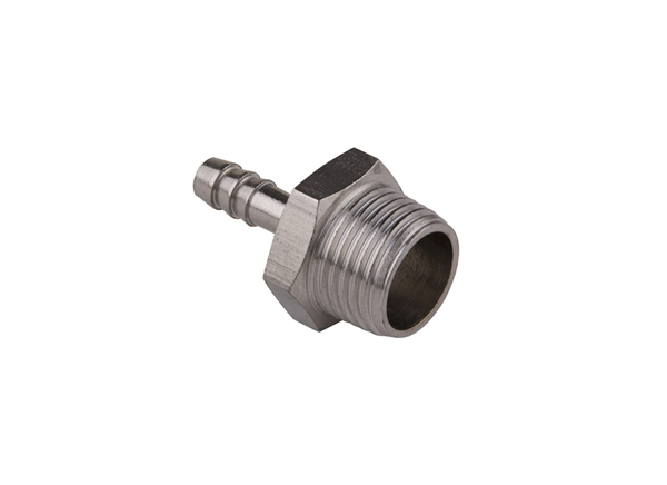 "Picture of 1/2"" MPT x 1/4"" Barb - Stainless Steel"