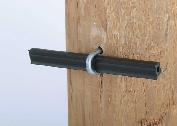 """Picture of 4"""" Tube Insulator for Wood Posts - 50 pack"""