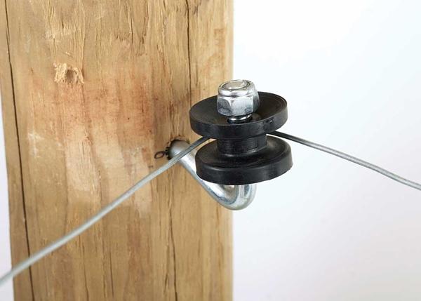 Electric Fence Corner Post Insulator Bracket Kit Hog Slat