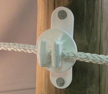 Picture of White Fence Insulator for Wood & Vinyl Posts - 25 Pack