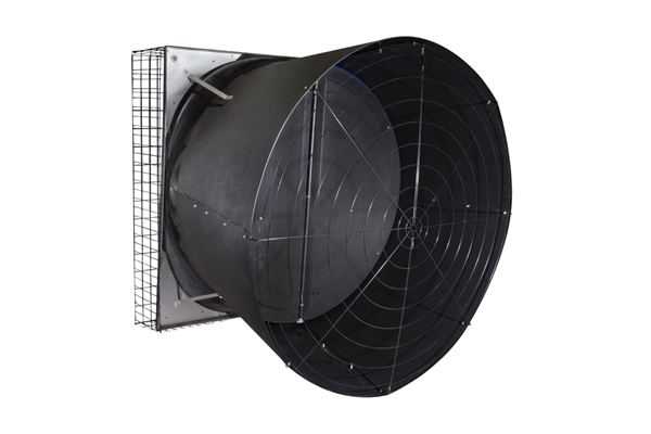 "Picture of AirStorm 57"" Stainless X-Brace Butterfly Fan w/ Cone"