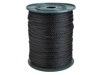 "Picture of 3/16"" Black Poly Rope"
