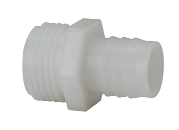 "Picture of 1/2"" Barb x  3/4'' MGHT, Nylon Hose Fitting"