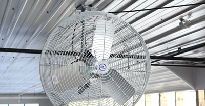 Direct cooling with stir fans and sprinklers.