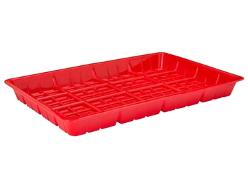 Hog Slat Red Plastic Chick Feed Tray