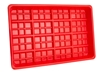 Hog Slat Red Plastic Chick Feed Tray Inside View