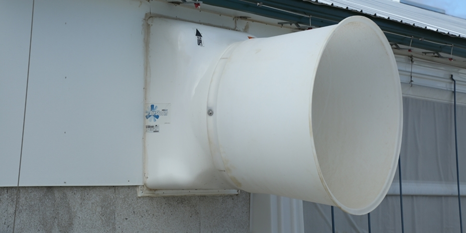 Converting large fans to minimum winter fans