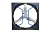 "Picture of AirStorm 57"" Galvanized X-Brace Butterfly Fan w/ Cone"