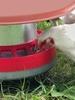 """""""Flex"""" Metal Chicken Feeder w/ Anti-Waste Ring & Chicken Feeding"""