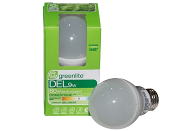 Picture of Greenlite Bulb LED 9W A19 NonDimmable Shatterproof 800L 3000K