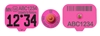 USDA Premise ID (PIN) Swine Ear Tags - Pink (w/ Management Numbers)