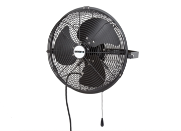 "DYNOFAN™ 14"" Indoor/Outdoor Wall Mount Fan - Black"