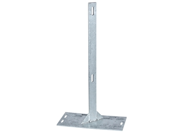 "29'' Flat Bar Post w/ 8"" x 16"" Base Plate - Galvanized"