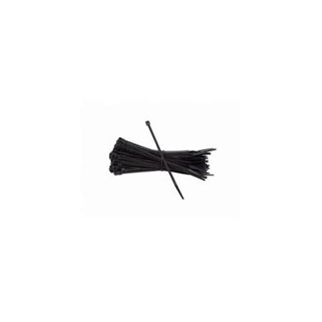 "4"" Cable Wire Zip Ties - Black (100/pack)"