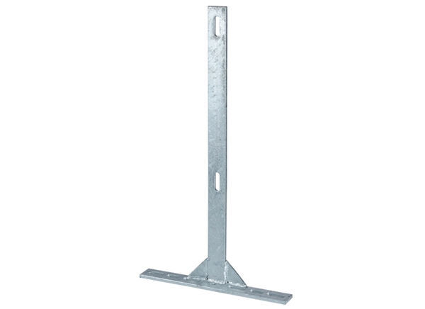 29'' Flat Bar Post w/ 17'' Offset Foot - Galvanized
