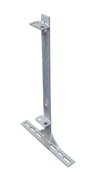 "29"" Flat Bar Post w/ Divider Clips & 19"" Base"
