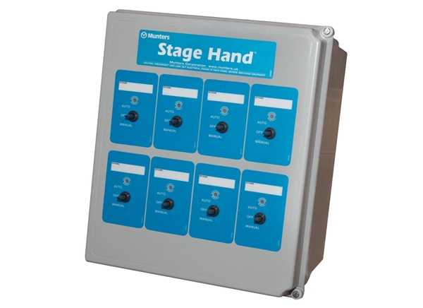 Picture of Control Stage Hand With 8 Relays And 8 Switches